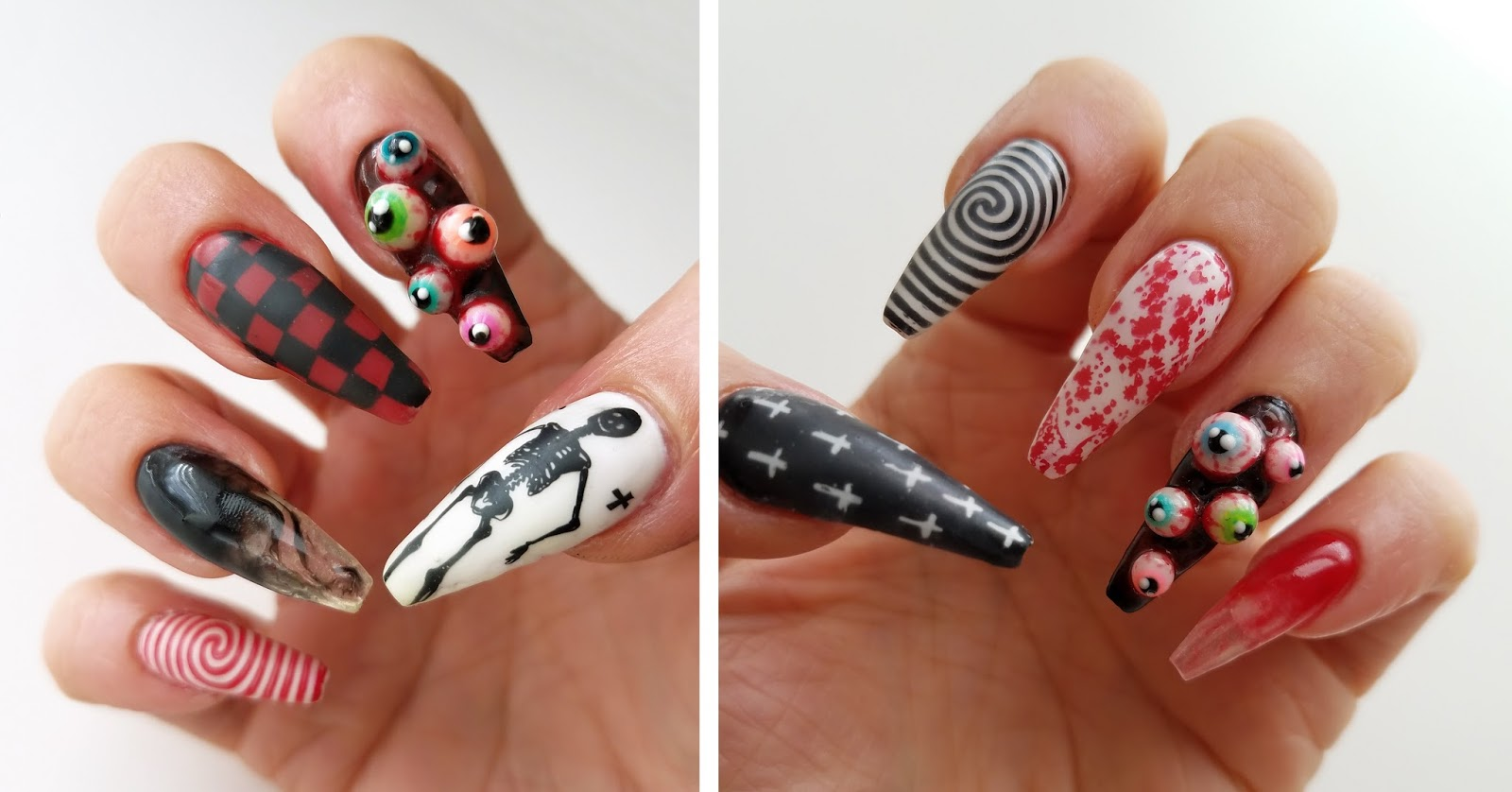 mno: Halloween Nail Design 3D / 4D Gel DIY