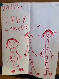 Drawn by Campbell and given to Hazel for Christmas
