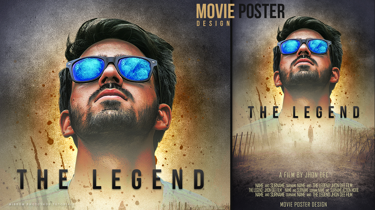 Make A Movie Poster With Texture Background In PicsArt