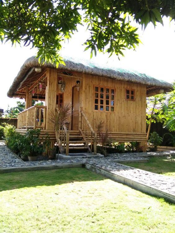45 Desain Rumah Bambu Sederhana Semi Modern Rumahku Unik