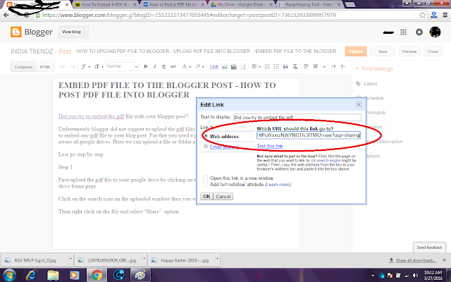 HOW TO UPLOAD PDF FILE TO BLOGGER - UPLOAD PDF FILE INTO BLOGGER  - EMBED PDF FILE TO THE BLOGGER POST - HOW TO POST PDF FILE INTO BLOGGER- ADD PDF FILE TO THE BLOGGER