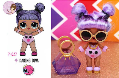 Daring Diva L.O.L. Surprise doll with real purple hair