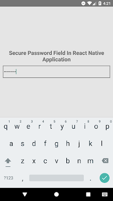 React Native Set TextInput Type Style Password Example