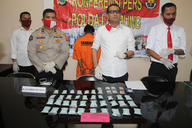 Ditresnarkoba Polda Lampung berhasil ungkap kasus Narkotika Golongan I Jenis Extacy.