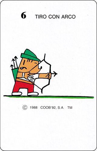 Baraja Cobi Heraclio Fournier Carta 6 Tiro con arco