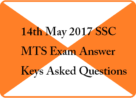 14 MAY 2017 SSC MTS 2ND SHIFT EXAM PAPER
