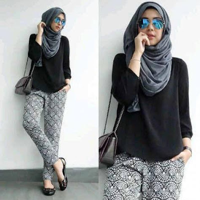Trend fashion hijab dengan busana muslim elegan