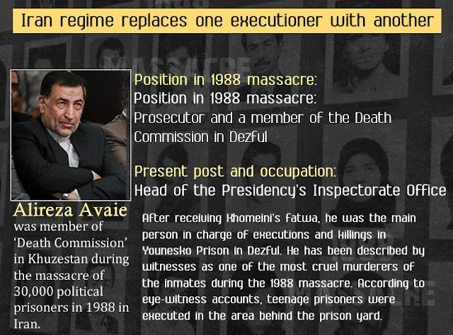 Rouhani appoints another 1988 massacre executioner as justice minister