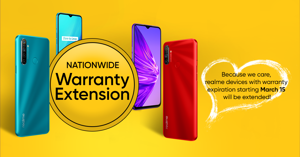 realme device warranty extension