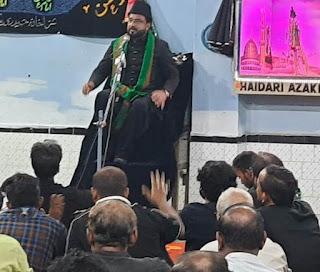 कयामत तक दुनिया इमाम हुसैन को याद करती रहेगी:मौलाना हसन अकबर    #NayaSaberaNetwork