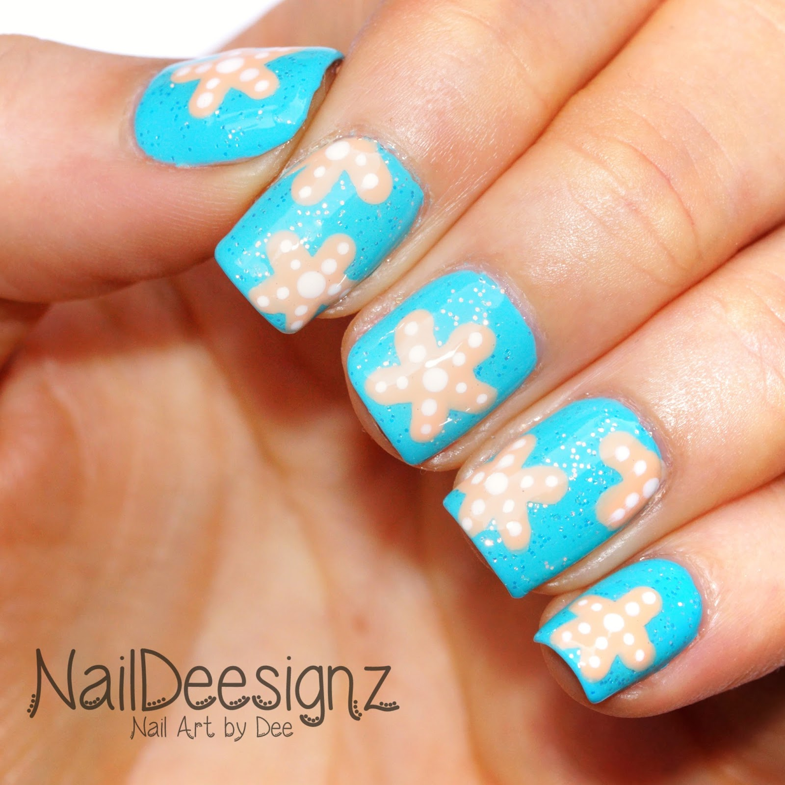 Naildeesignz Starfish Nail Art