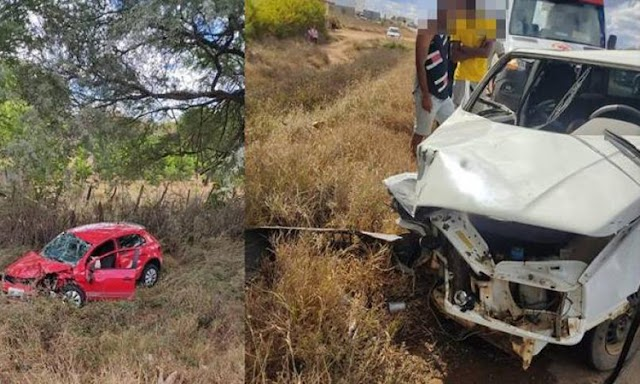 Colisão frontal entre dois carros deixa feridos na BA-432