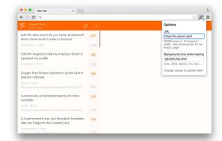 Chrome Newtab URL Customize
