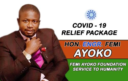 COVID-19: HON ENGR FEMI AYOKO Distributed 2,000 COVID - 19 Relief items to the people of Akoko South West Constituency 1.