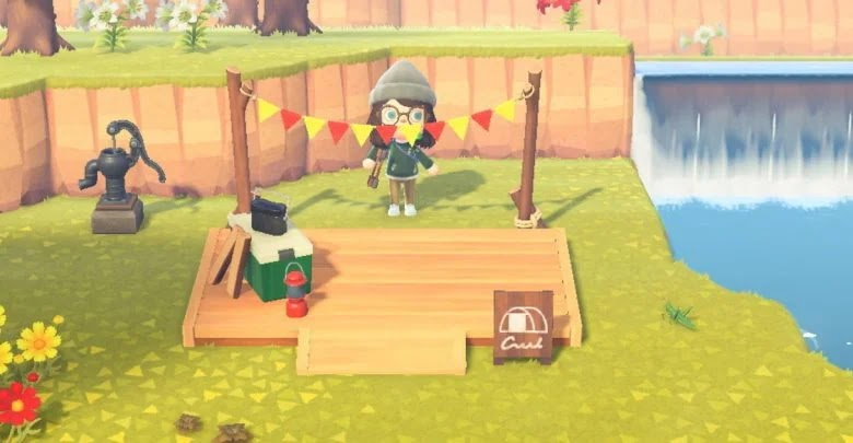 What is the camping area and what is it for in Animal Crossing: New Horizons