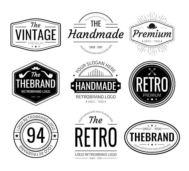Miễn phí một số mẫu logo cổ điển (PSD + ESP)
