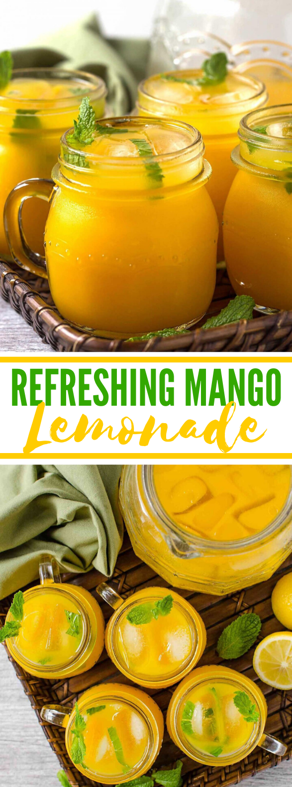 REFRESHING HOMEMADE MANGO LEMONADE #drinks #summer