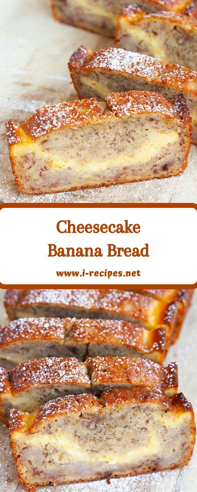 Cheesecake Banana Bread