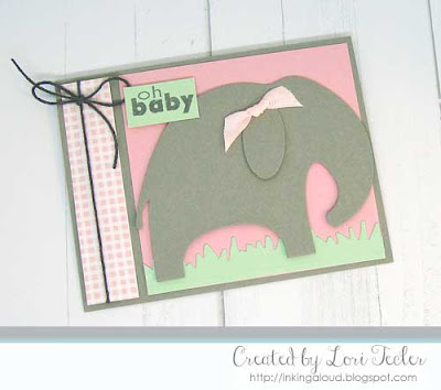 Oh Baby card-designed by Lori Tecler/Inking Aloud-stamps and dies from Clear and Simple Stamps