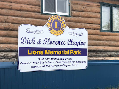 Park honoring Dick and Florence Clayton of Glennallen Alaska