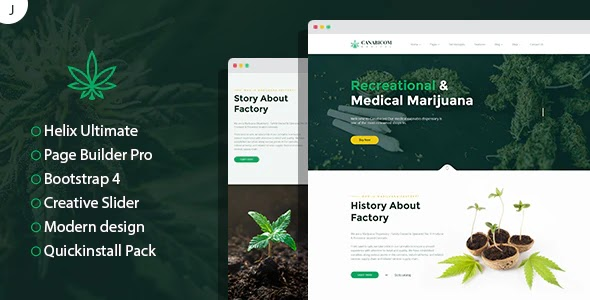 Medical Cannabis Responsive Website Template