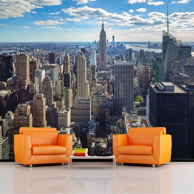 Fototapet New York Times manhattan skyline fondvägg