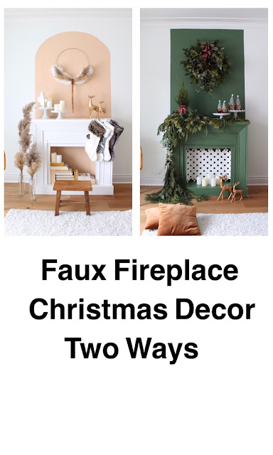 Christmas Mantel Faux Fireplace Ideas