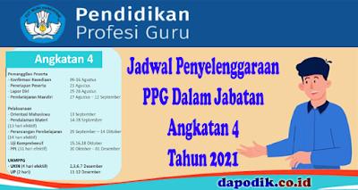 Jadwal Penyelenggaraan PPG Dalam Jabatan Angkatan 4