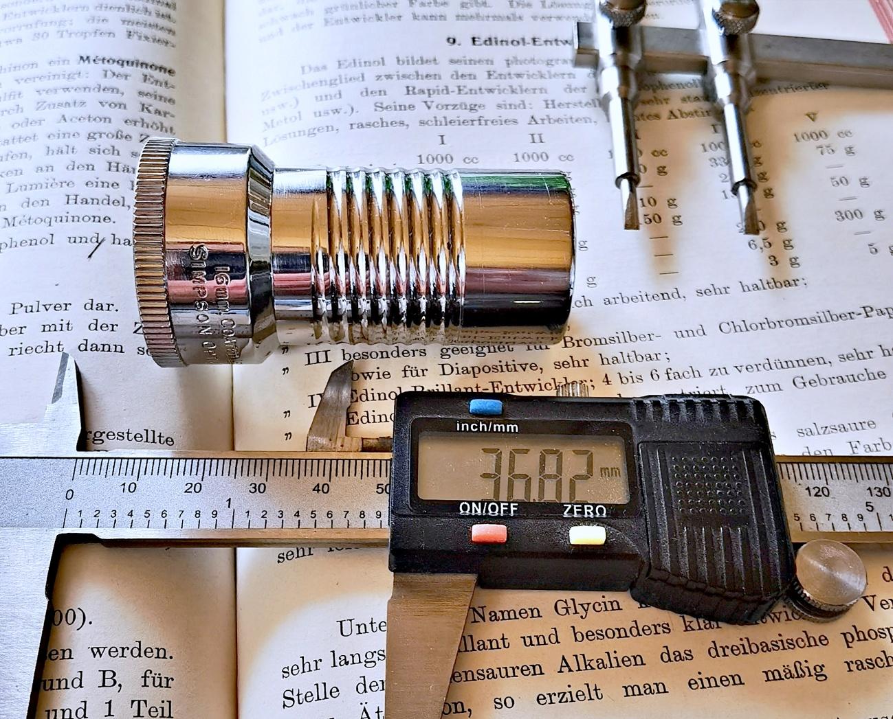 Das Simpson-Chicago f1.6 51mm (2 inch) wird readaptiert #1