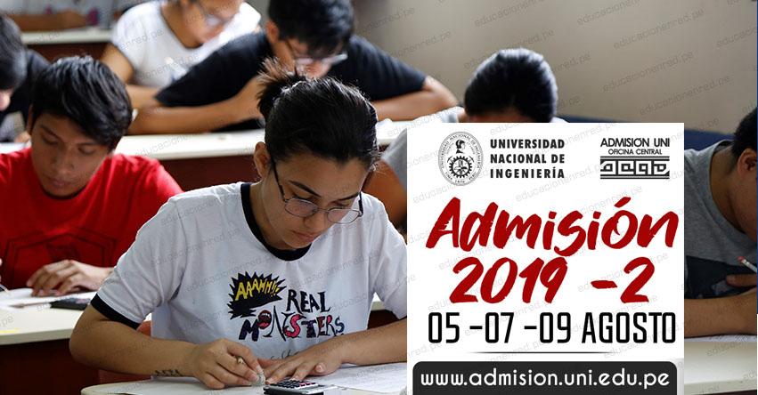 UNI: Examen de Admisión a la Universidad Nacional de Ingeniería se realizará este 5, 7 y 9 de Agosto - www.uni.edu.pe