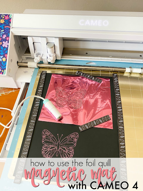 silhouette 101, silhouette america blog, cameo 4, foil quill, magnetic mat