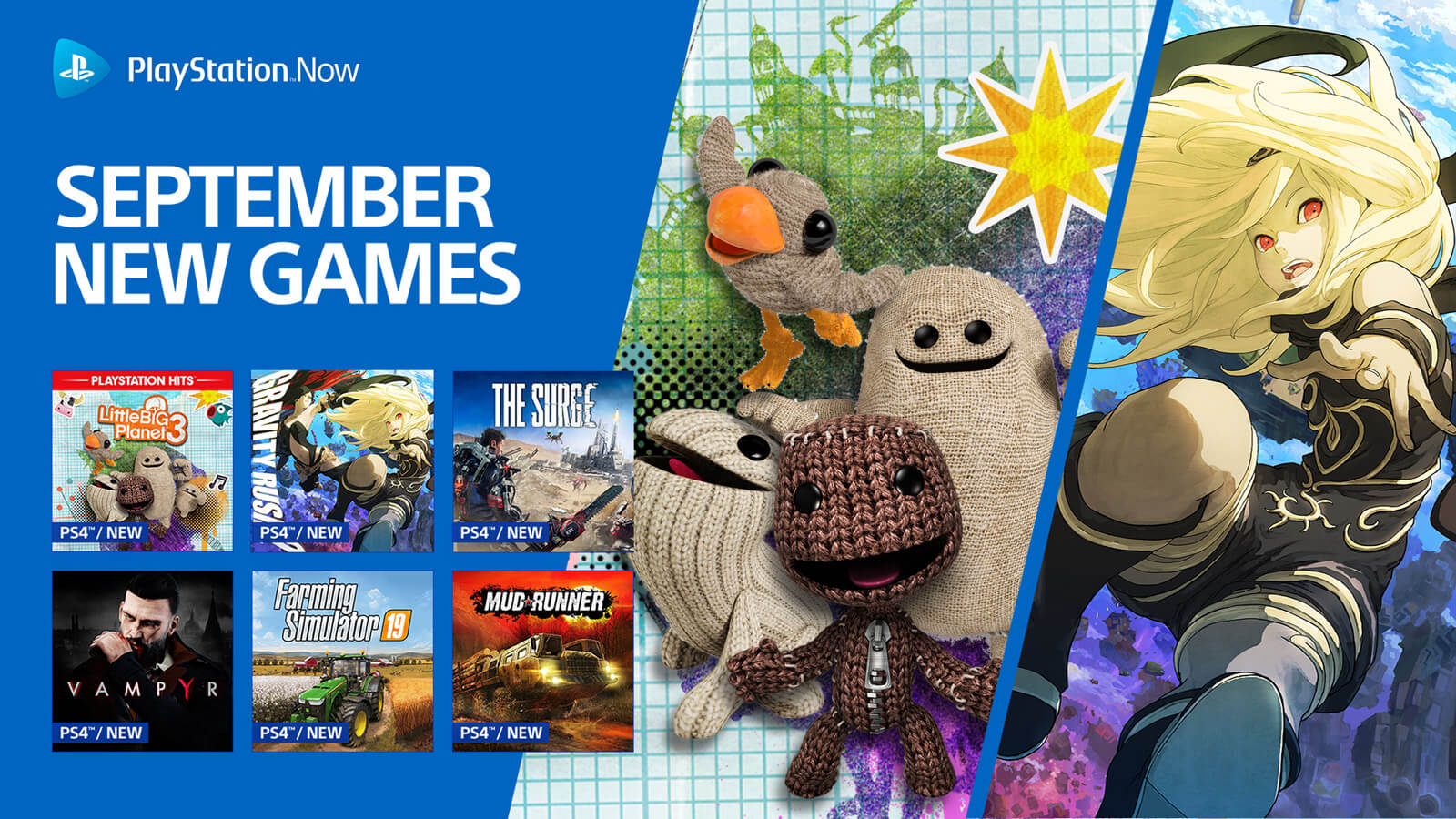 PlayStation Now Adds LittleBigPlanet 3, Gravity Rush 2 and