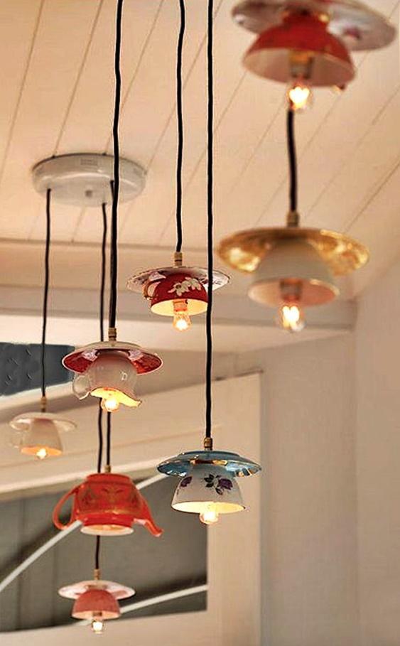 lampki z filiżanek