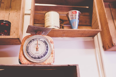 Stock photo of kitchen scales