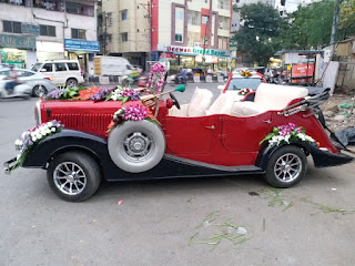 Famous Flower Merchant  Marriag car flower decorators in Hyderabad