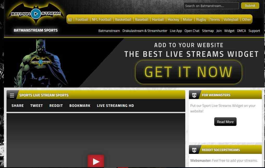 BatManStream: Top 10 Best Sports Streaming Alternatives
