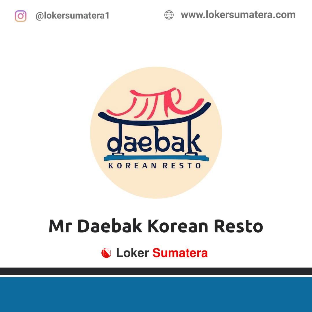 Lowongan Kerja Bukittinggi: Mr Daebak Korean Resto Desember 2020