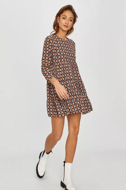 Rochie casual mini multicolora Answear Lab
