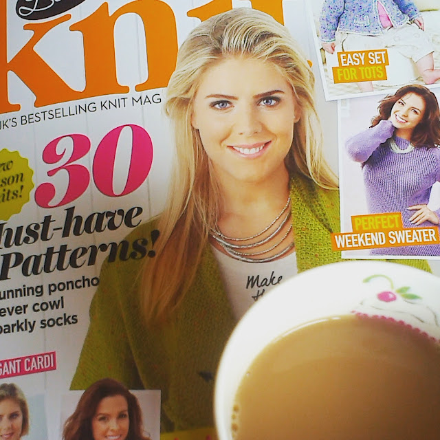 10am - tea and a knitting magazine