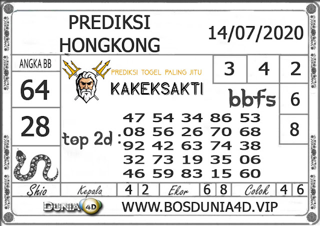 Prediksi Togel HONGKONG DUNIA4D 14 JULI 2020
