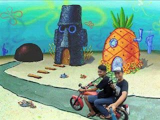 Cara Edit Photo Background Kartun Spongebob di Android