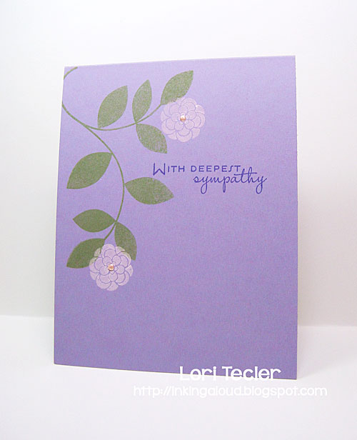 With Deepest Sympathy card-designed by Lori Tecler/Inking Aloud-stamps from Papertrey Ink