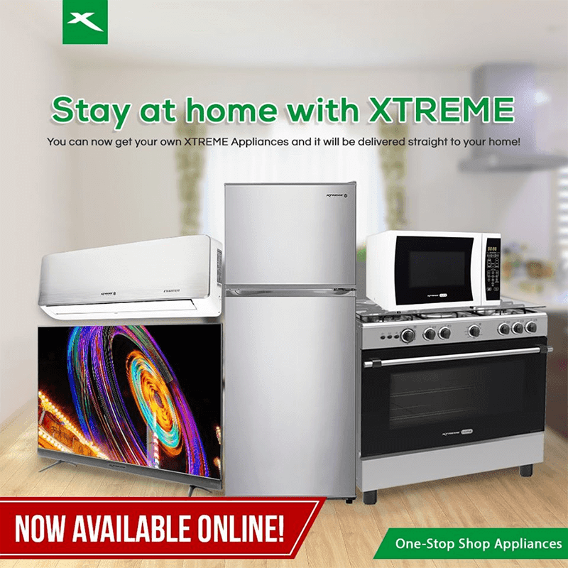 You can now order XTREME Appliances online with FREE delivery