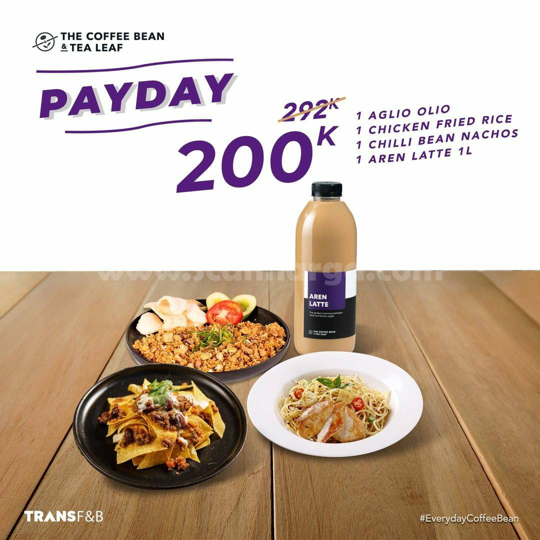 THE COFFEE BEAN Promo PAYDAY