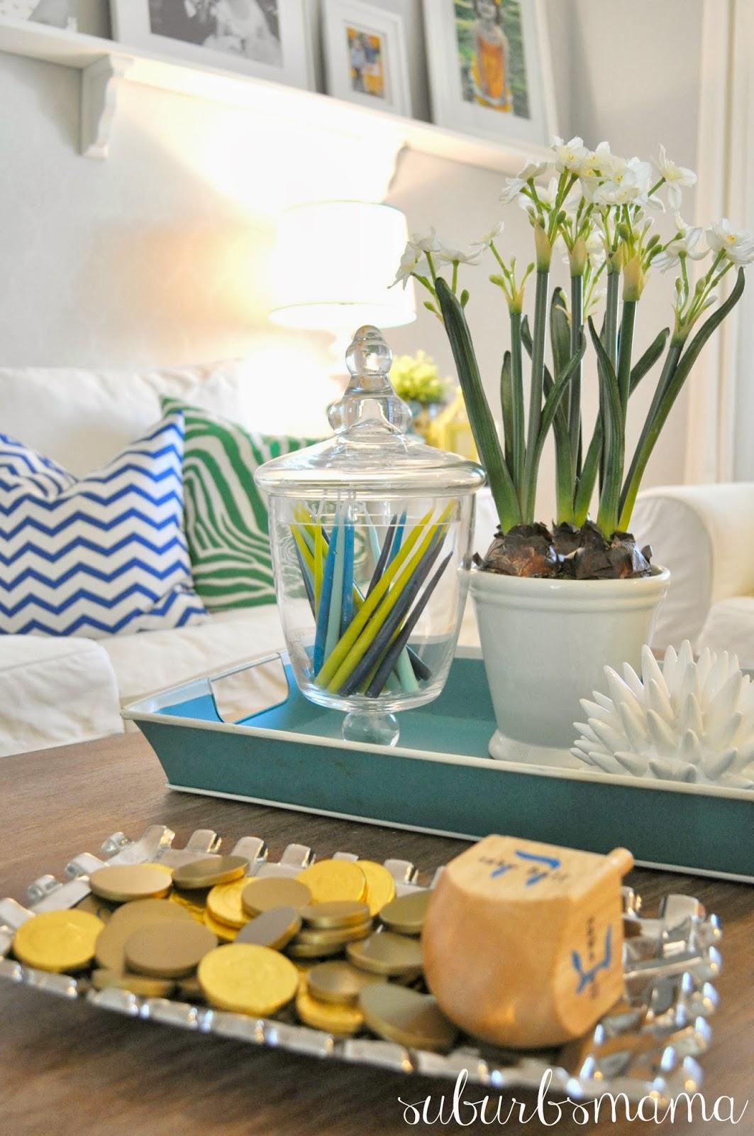 Decorative Items For Living Room: Suburbs Mama: Hanukkah Decor 2013