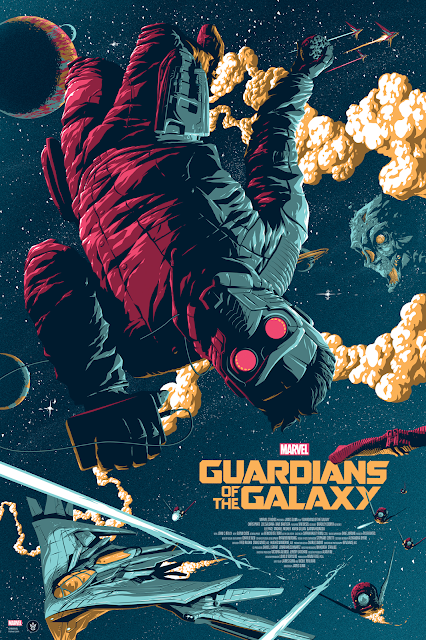 Guardians of the Galaxy Regular Edition Screen Print by Florey x Grey Matter Art
