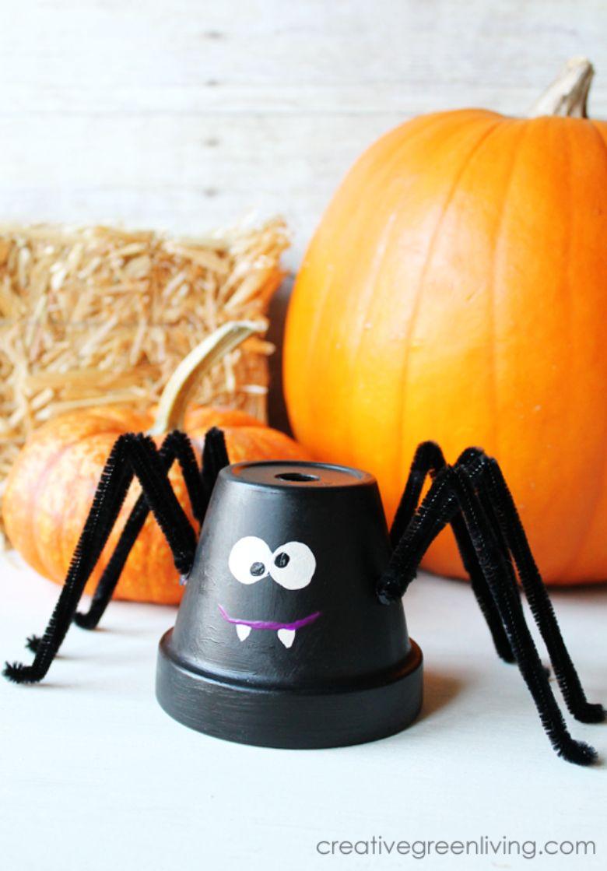 Clay pot spider craft