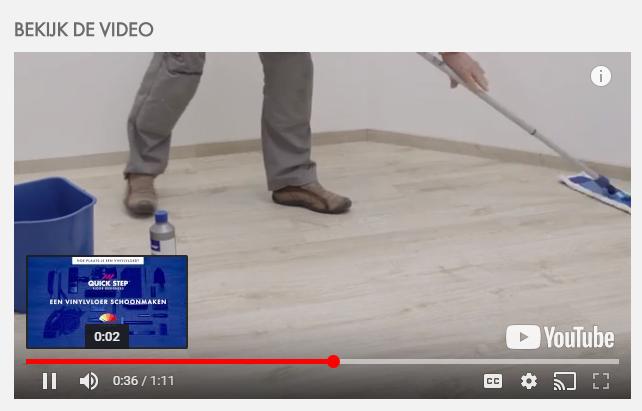 Zelf schoonmaken vinyl vloer is makkelijk