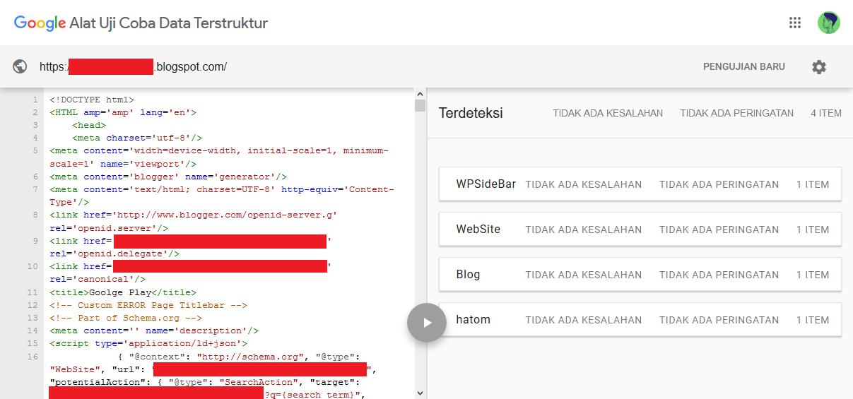Menggunakan Struktur Data Schema.org