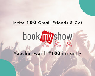 Lenskart Refer and Earn – Invite your 100 gmail friends and get Rs 100 bookmyshow voucher